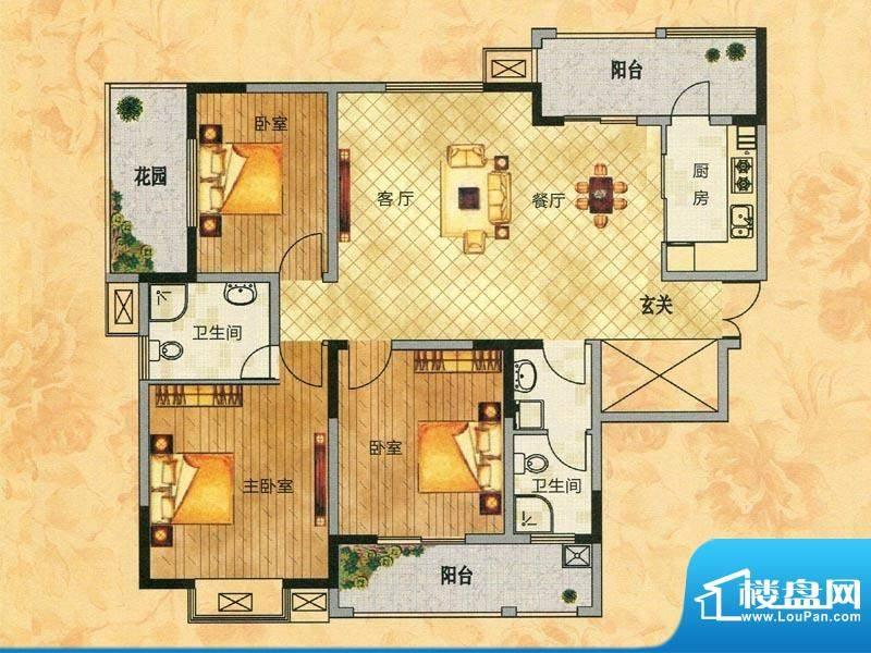 东方今典观澜1#楼E1面积:141.76m平米