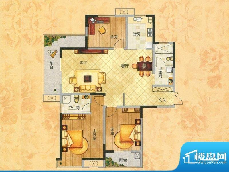 东方今典观澜2#楼A1面积:140.85m平米