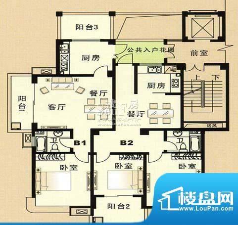 兴和苑户型图八面积:0.00平米