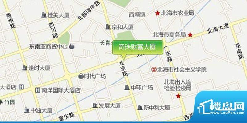 奇珠财富大厦交通图