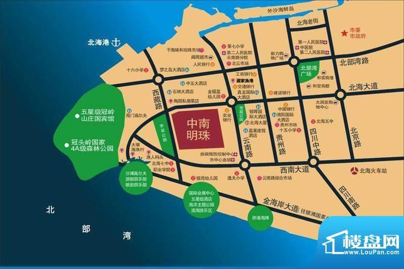 中南明珠交通图