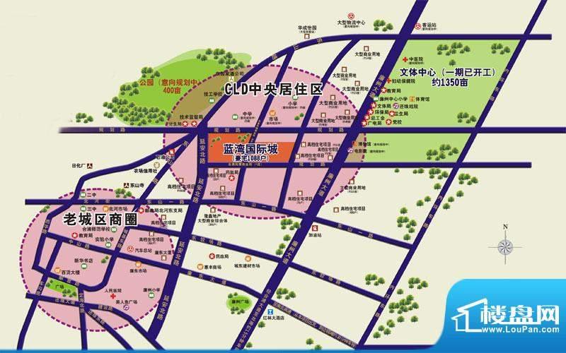 蓝湾国际城交通图