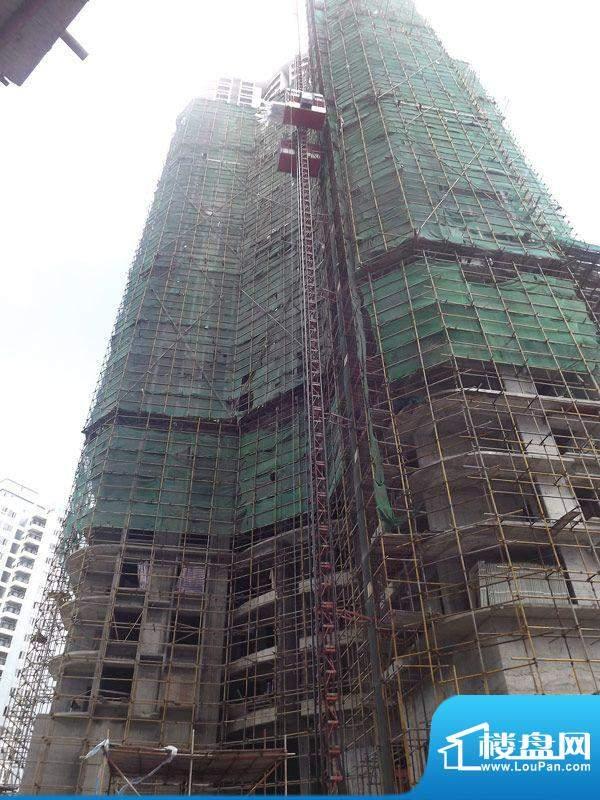 海辰国际项目施工进度:外墙装修(2012