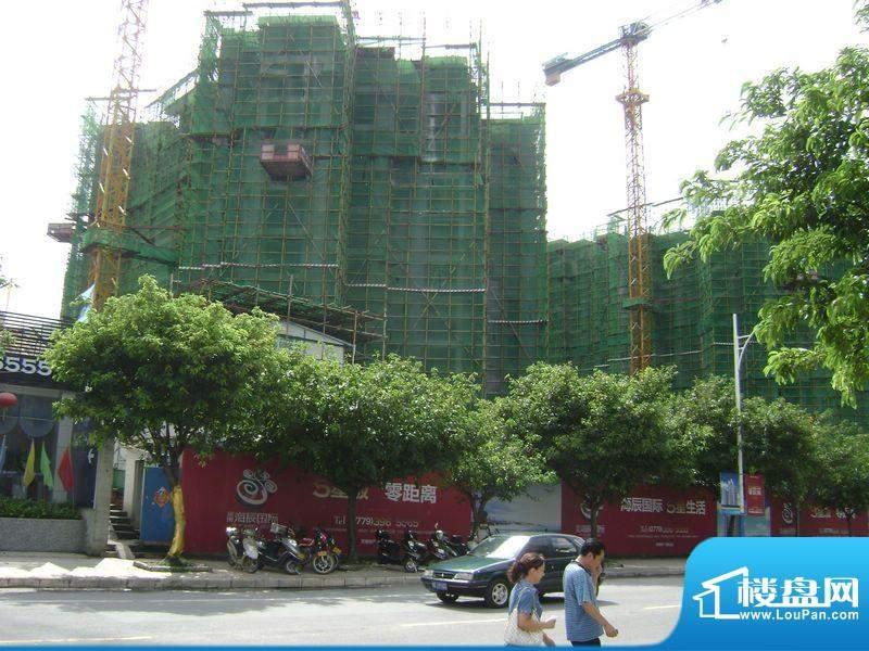 海辰国际项目施工外景图20110810