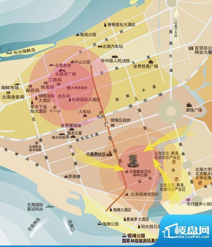 港鹏公园印象 交通图
