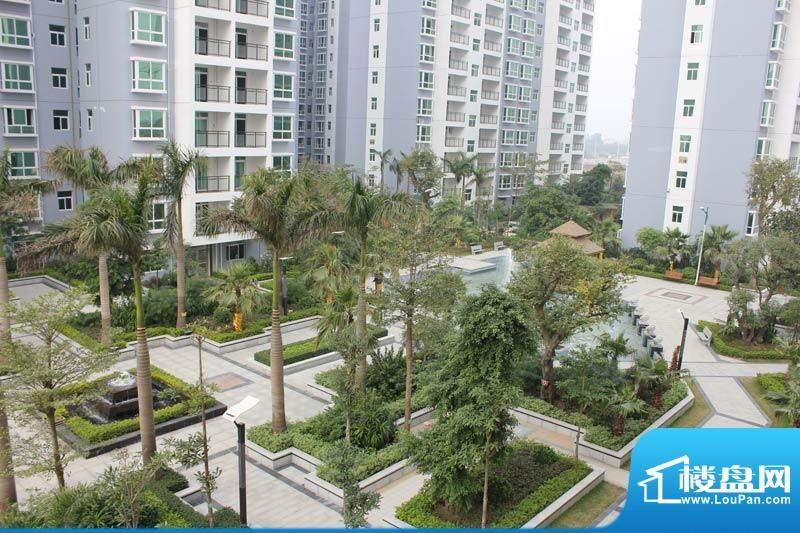 怡康春城小区中央景观鸟瞰实景20120228