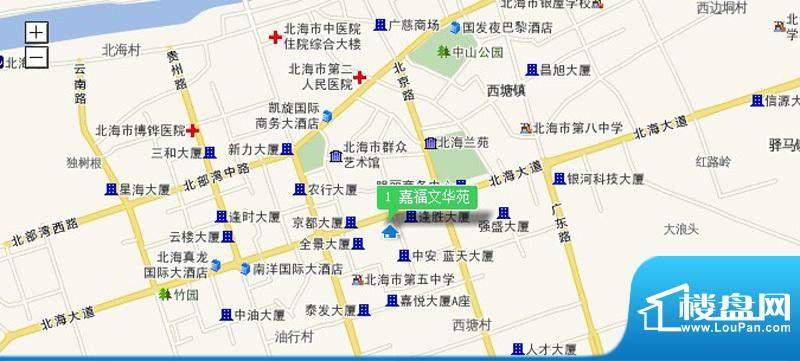 嘉福文华苑交通图