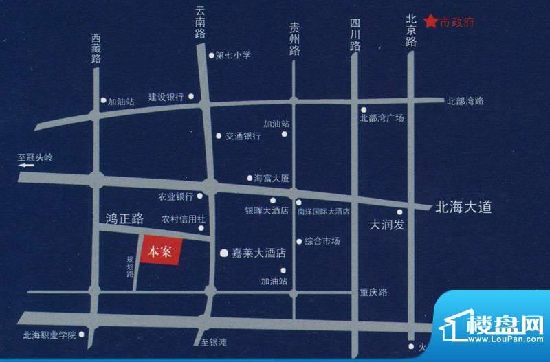 天富花苑交通图