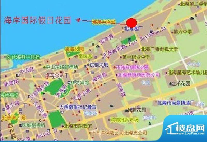 海岸国际假日花园交通图