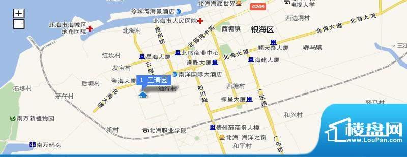 三清园交通图