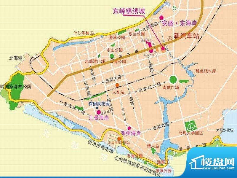 东峰锦绣城交通图
