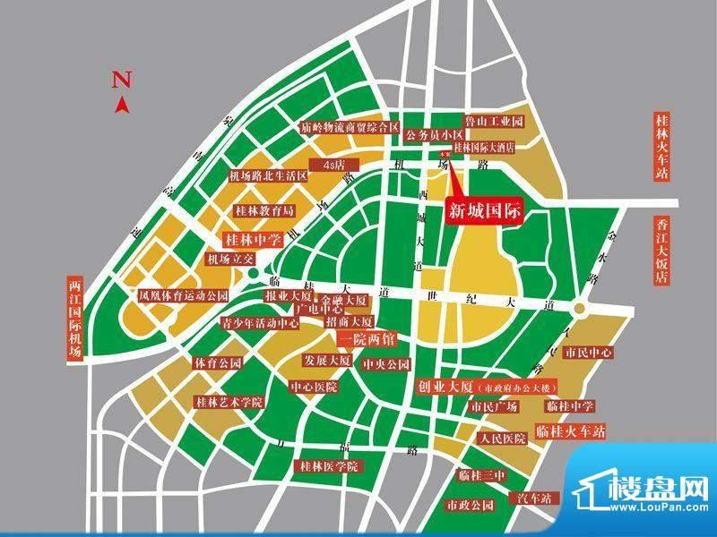 甲天下·新城国际交通图