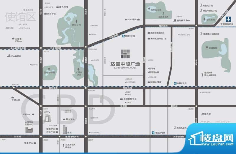 达美中心广场交通图