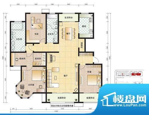 东营市天昊梅园C户型面积:188.00m平米