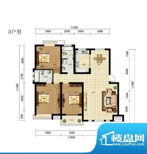 渤海尚城D500面积:0.00m平米