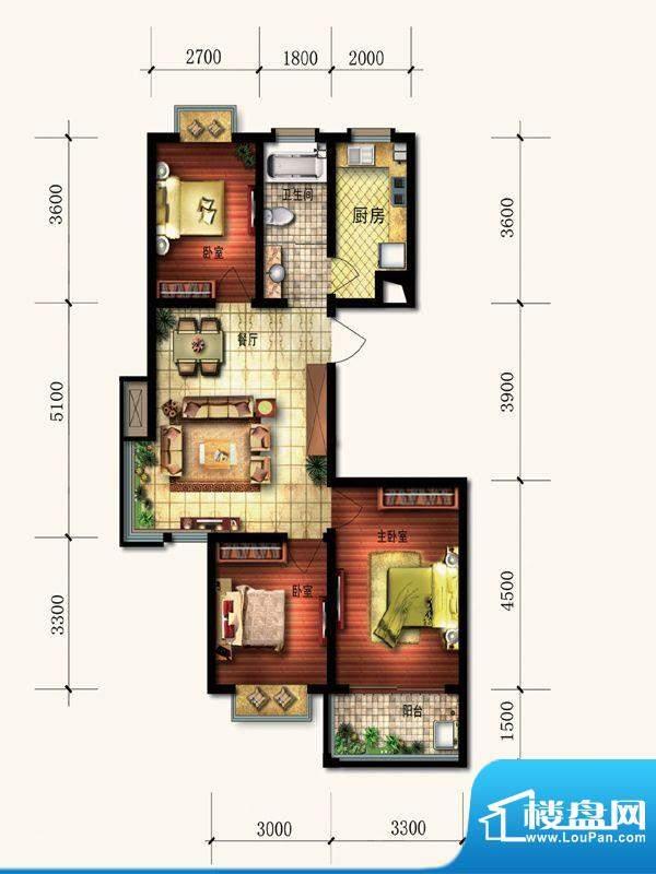 富庭大第一期10号楼面积:101.32平米