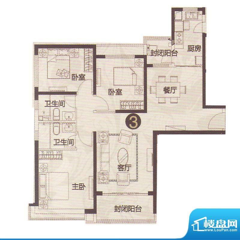 恒大名都18号楼2单元面积:150.00平米