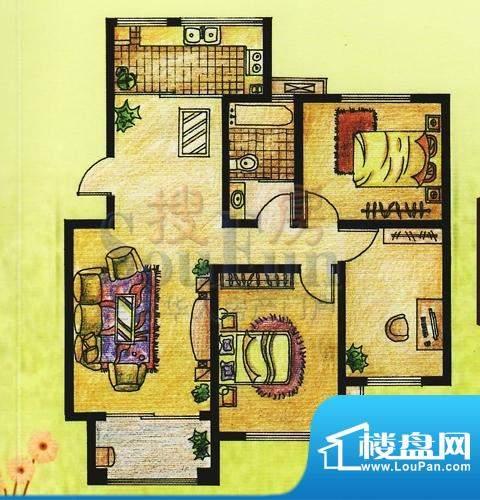 双羊新城3室2厅1卫1面积:124.50平米