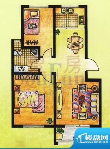 双羊新城2室2厅1卫1面积:94.59平米