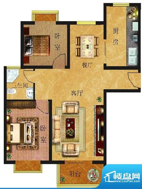 金鼎华府一期住宅 2面积:92.00平米