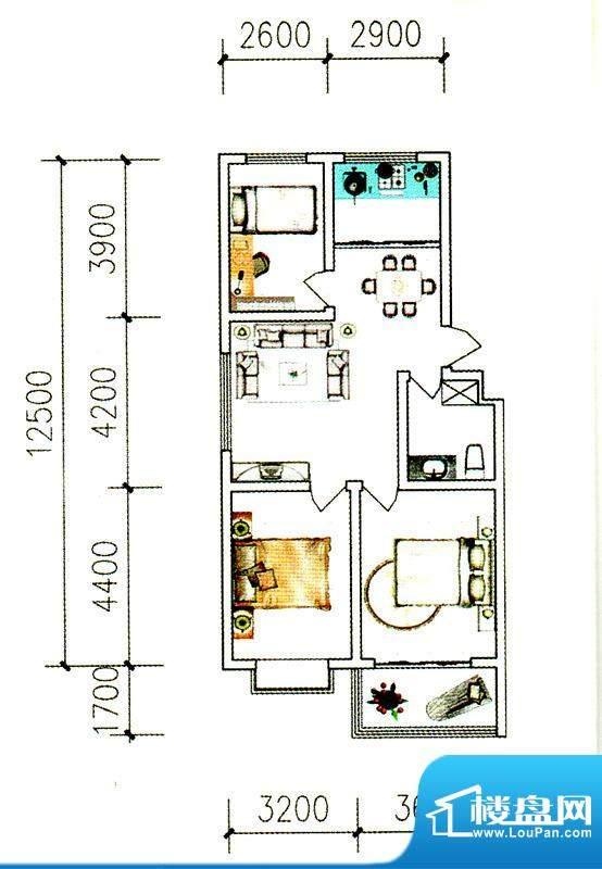银枫家园二期西区多面积:94.00平米