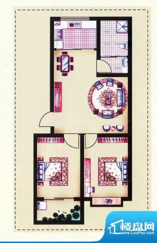 银枫家园一期多层南面积:88.95平米