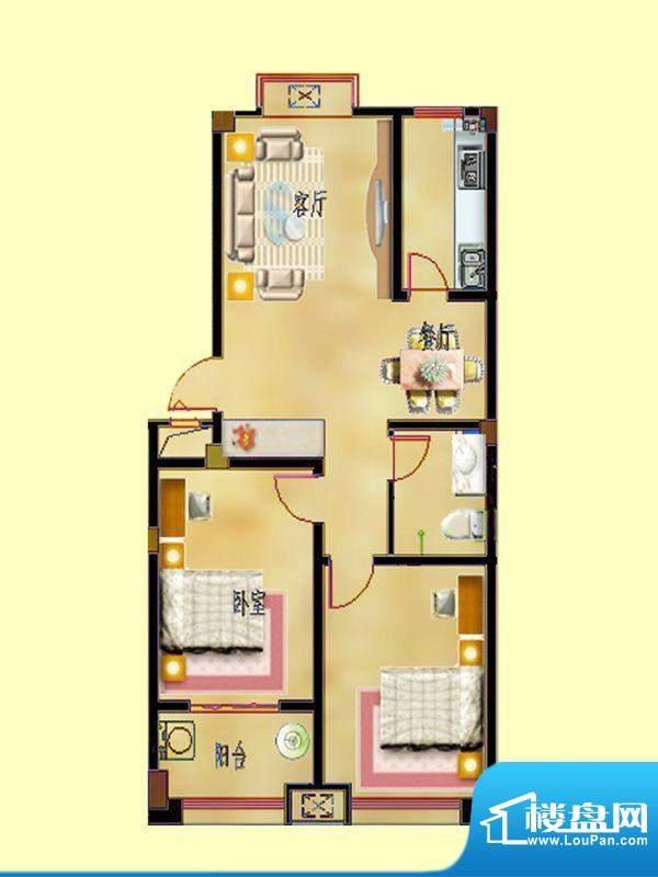 蝶园欣苑一期多层住面积:94.63平米