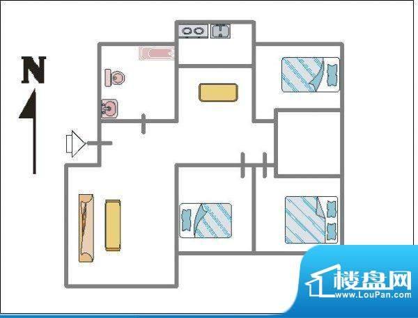 138平龙居苑 户型图面积:0.00平米