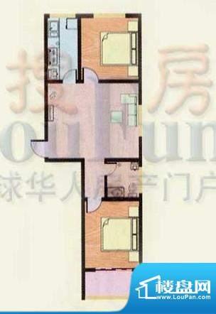 金都南苑户型图 2室面积:79.90平米