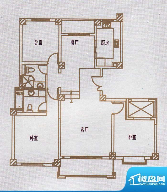 亿豪城中名邸11号楼面积:143.86平米