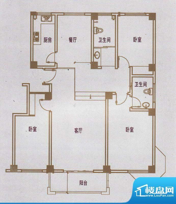 亿豪城中名邸11号楼面积:134.66平米