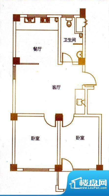 亿豪城中名邸9号楼标面积:93.17平米
