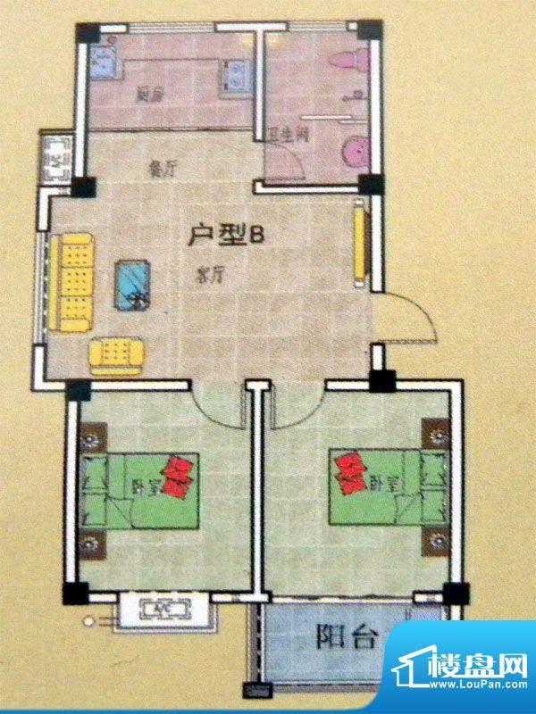 王侯嘉苑一期多层住面积:83.00平米