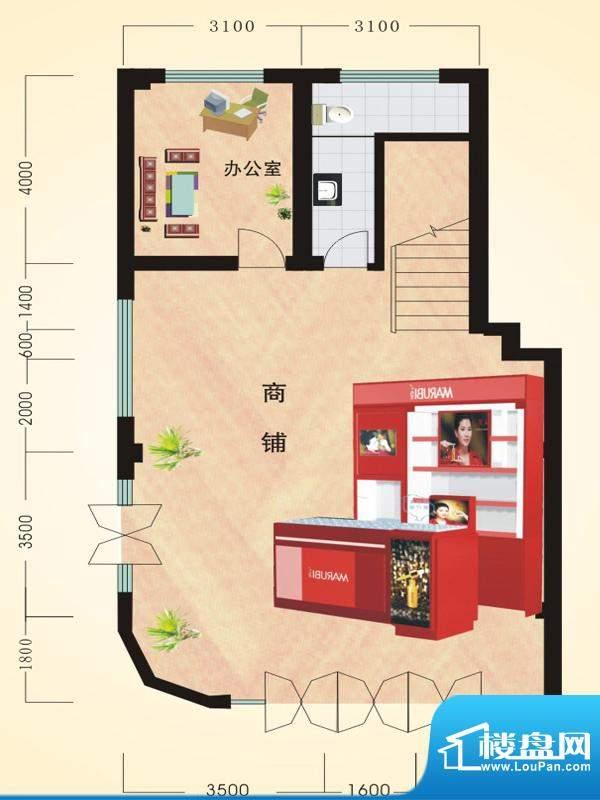 寒亭区商业总公司小面积:229.38平米
