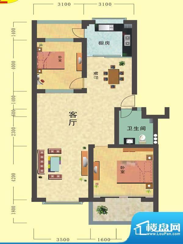 寒亭区商业总公司小面积:115.82平米