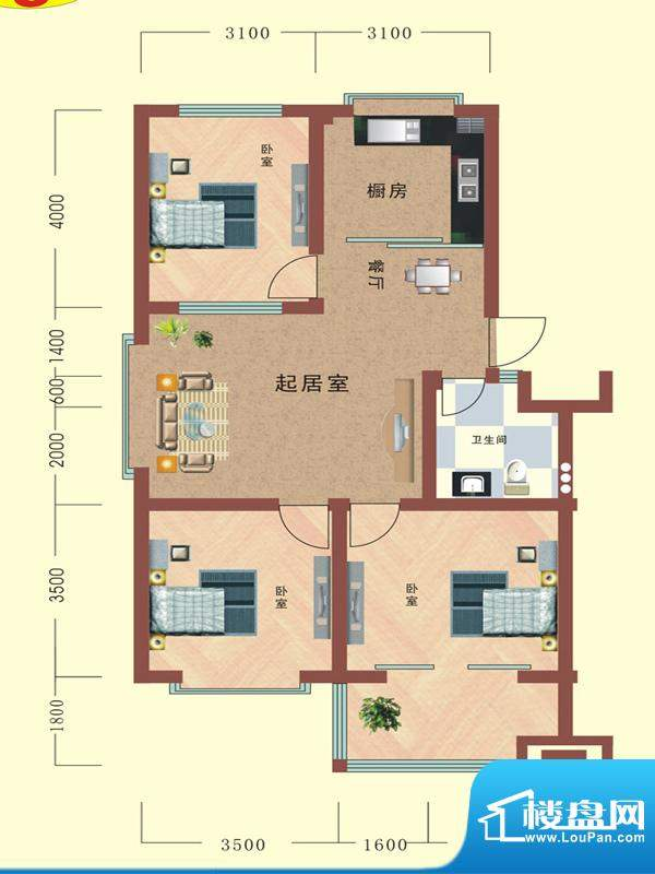 寒亭区商业总公司小面积:97.43平米