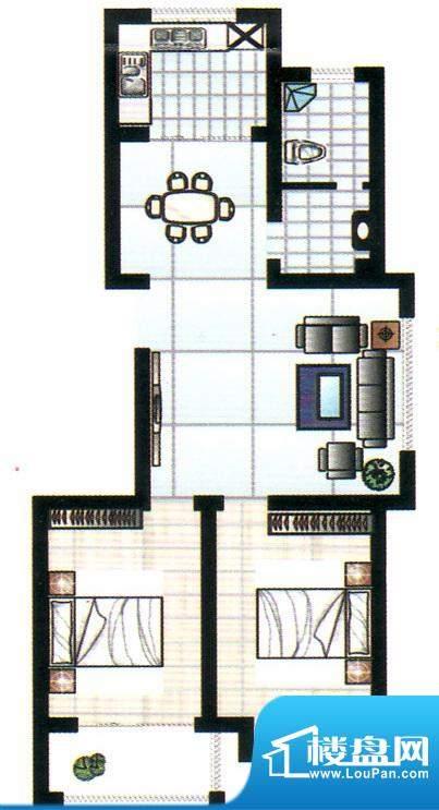 奥博家苑一期1、3号面积:93.00平米