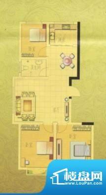 奥博家苑A户型3室面积:107.00平米
