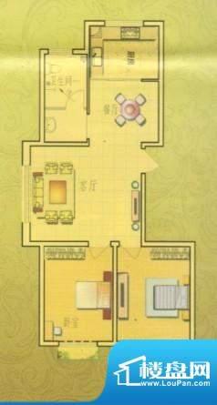 奥博家苑B户型 2室2面积:99.00平米