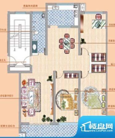 凤鸣郡户型06 3室2厅面积:0.00平米