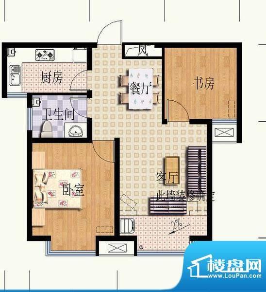 华光嘉苑3#2户型 2室面积:74.71平米
