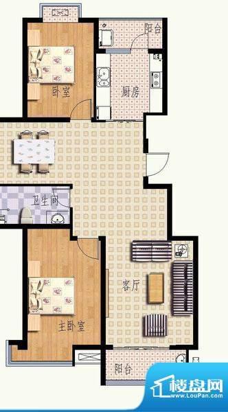 华光嘉苑4#2户型 2室面积:111.99平米