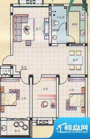 吉祥如意城3户型 3室面积:116.34平米