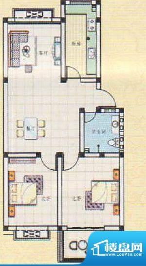 吉祥如意城2户型 2室面积:88.00平米