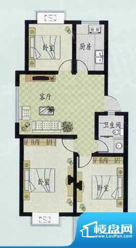 元和新城D户型 3室1面积:98.00平米
