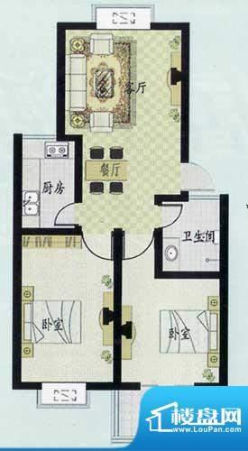 元和新城C户型 2室2面积:93.34平米