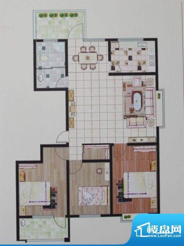名仕豪庭一期小高层面积:136.00平米