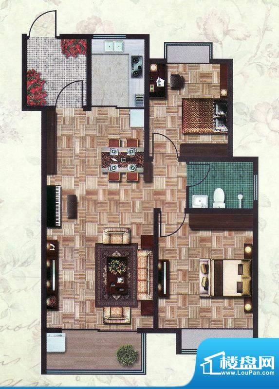 怡和四季园筑一期8号面积:95.00平米