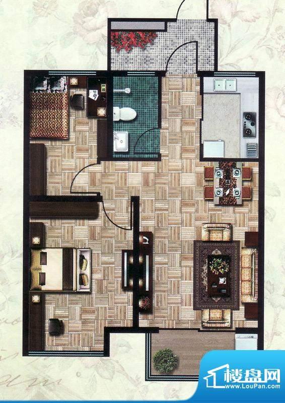 怡和四季园筑一期8号面积:82.00平米