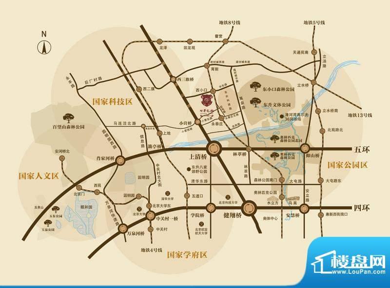 北京城建·世华龙樾交通图